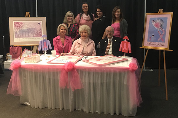 Judy Patton at Think Pink event in 2018